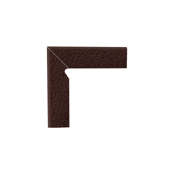 Цоколь структурный левый Paradyz Natural Brown Duro, 300*81*11 мм