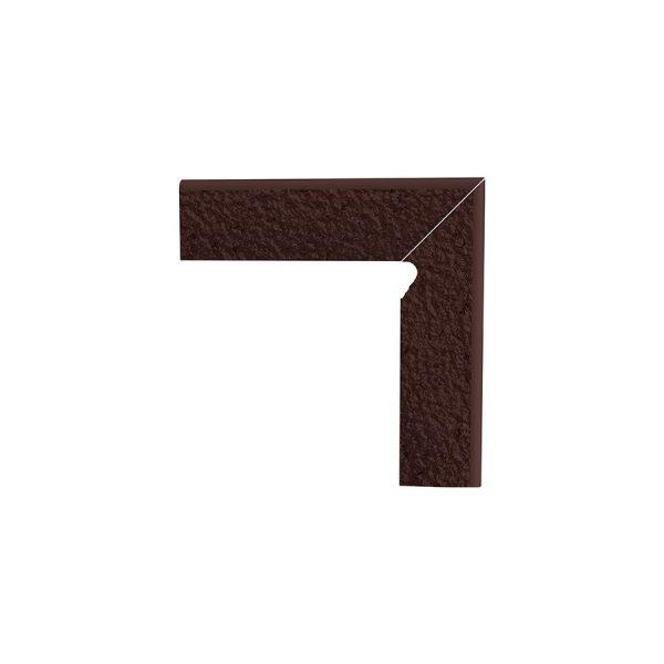 Цоколь структурный правый Paradyz Natural Brown Duro, 300*81*11 мм