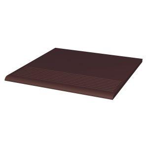 Фронтальная клинкерная ступень простая Paradyz Natural Brown, 300х300х11 мм