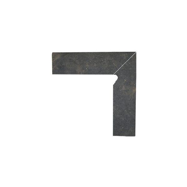 Цоколь структурный левый Paradyz Scandiano Brown, 300*81*11 мм