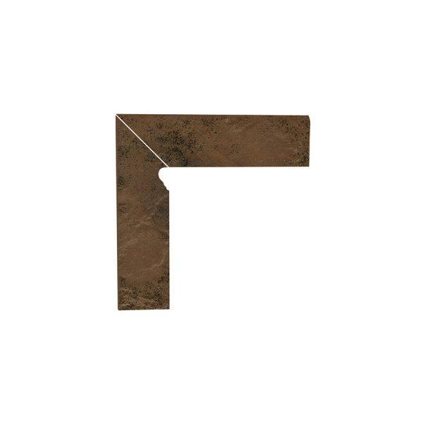 Цоколь структурный левый Paradyz Semir Beige, 300*81*11 мм