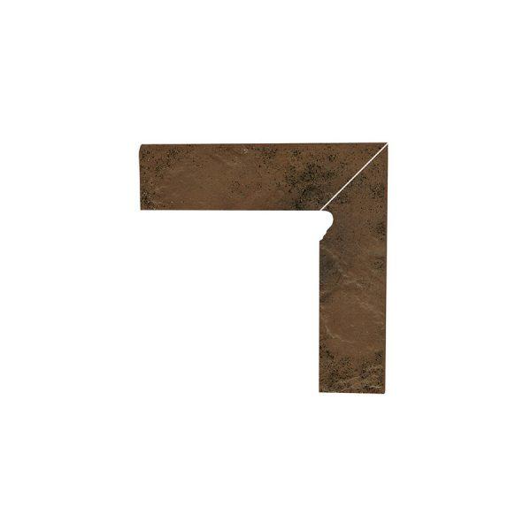 Цоколь структурный правый Paradyz Semir Beige, 300*81*11 мм