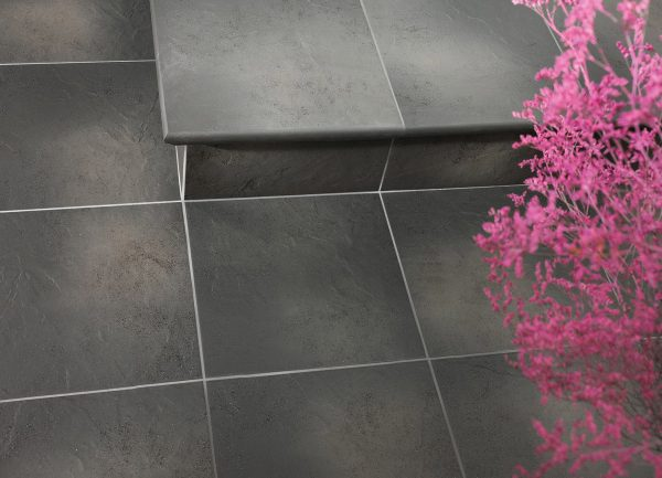 Цоколь структурный правый Paradyz Semir Grafit, 300*81*11 мм