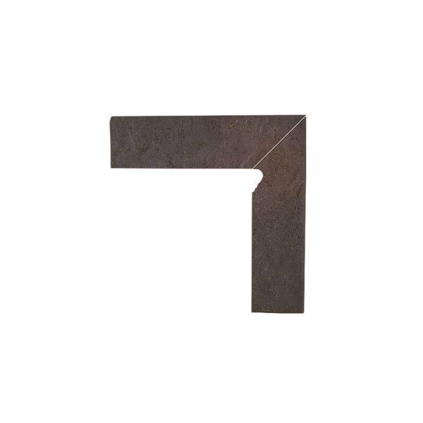 Цоколь структурный правый Paradyz Semir Rosa, 300*81*11 мм