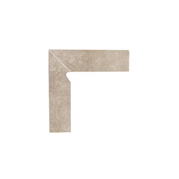 Цоколь структурный левый Paradyz Viano Beige, 300*81*11 мм