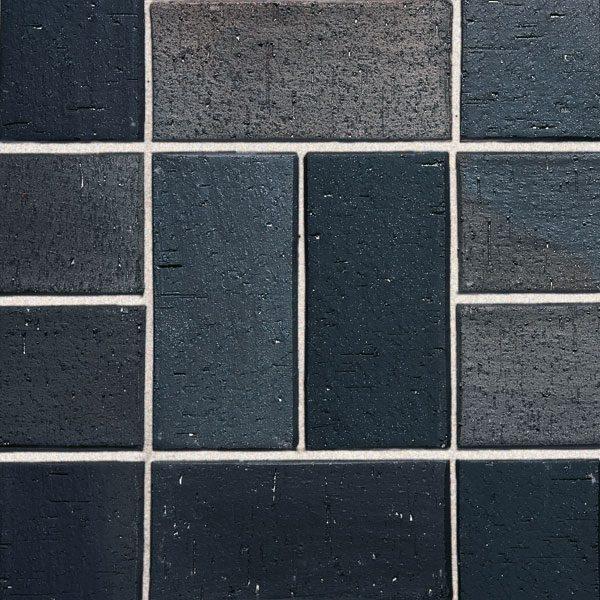 Roben Schwabing schwarz-buntgeflammt, gefast, 200x100x40 мм