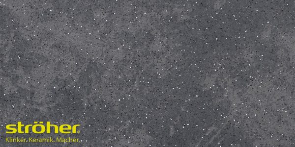 Клинкерная напольная плитка Stroeher ROCCIA 845 nero 30x30, 294x294x10 мм