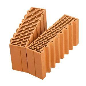 Доборный керамический блок Porotherm 51 1/2, М100, 510х250х219 мм