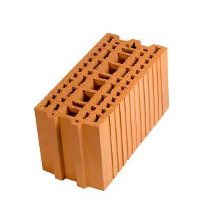 Крупноформатный керамический блок Porotherm 20, М100, 200х400х219 мм