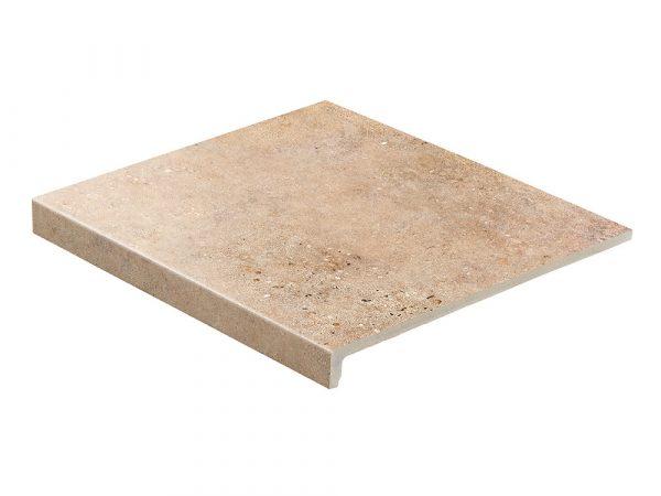 Клинкерная ступень прямая Stroeher GRAVEL BLEND 961 brown 30, 9430, 294х340х35х11 мм