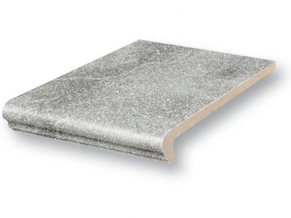 Клинкерная ступень флорентинер Stroeher ROCCIA 840 grigio 25, 9240, 340x240x12 мм