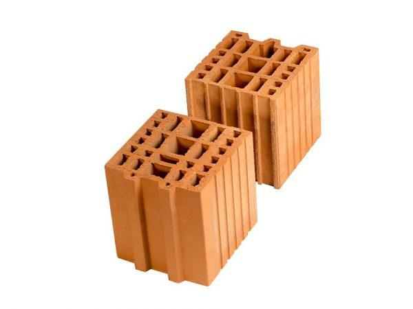 Доборный керамический блок Porotherm 20 1/2, М100, 200х400х219 мм
