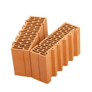 Доборный керамический блок Porotherm 38 1/2, М100, 380х250х219 мм