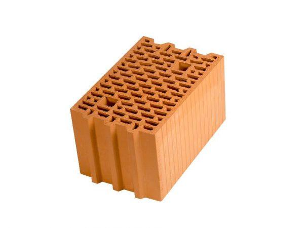 Крупноформатный керамический блок Porotherm 25, М100, 250х375х219 мм