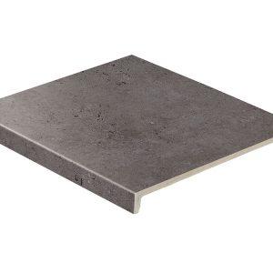Клинкерная ступень прямая Stroeher GRAVEL BLEND 963 black 30, 9430, 294х340х35х11 мм