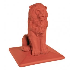 Колпак на забор KING KLINKER Lion 01 Ruby Red, 445*445*520 мм