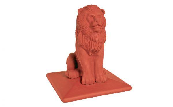 Колпак на забор KING KLINKER Lion 01 Ruby Red, 445*445*520 мм