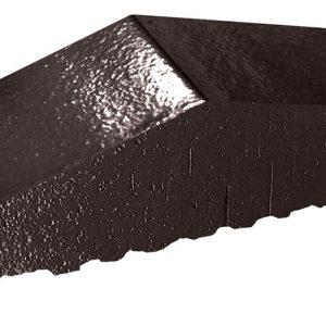 Профильный кирпич полнотелый KING KLINKER 17 Onyx black, 180/120*65*58 мм