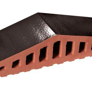 Профильный кирпич KING KLINKER 17 Onyx black, 310/250*100*78 мм