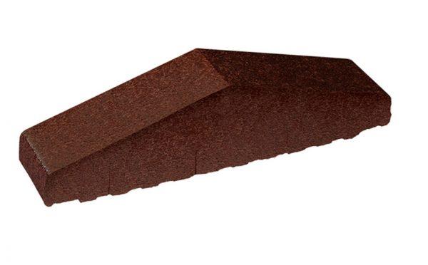 Профильный кирпич полнотелый KING KLINKER 02 Brown-glazed, 310/250*65*78 мм