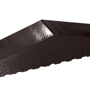 Профильный кирпич полнотелый KING KLINKER 17 Onyx black, 310/250*65*78 мм
