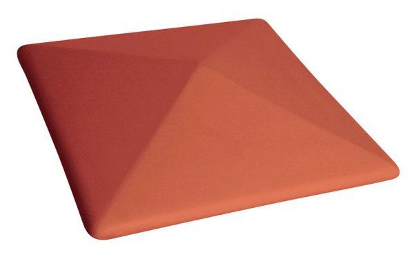 Колпак на забор KING KLINKER 01 Ruby Red, 445*445*90 мм