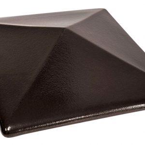 Колпак на забор KING KLINKER 17 Onyx Black, 445*445*90 мм