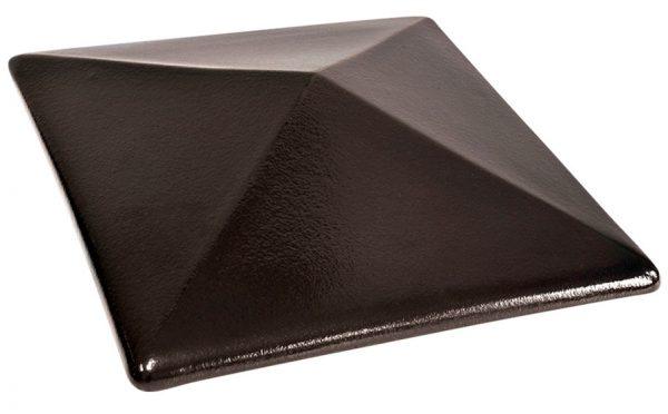 Колпак на забор KING KLINKER 17 Onyx Black, 445*585*106 мм