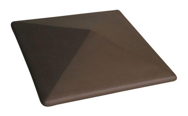 Колпак на забор KING KLINKER 03 Natural Brown, 400*400*90 мм