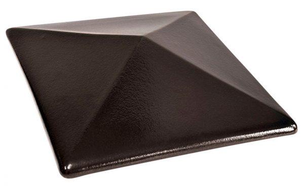 Колпак на забор KING KLINKER 17 Onyx Black, 400*400*90 мм