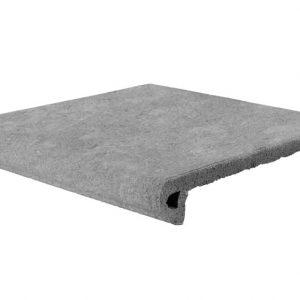 Клинкерная ступень Gres Aragon Stone Gris, 330*325*18(53) мм