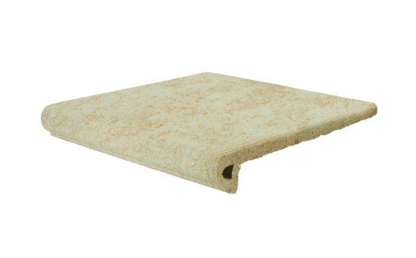 Клинкерная ступень Gres Aragon Stone Beige, 330*325*18(53) мм
