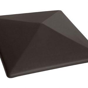 Колпак на забор KING KLINKER Вулканический черный (18), 445*445*90 мм