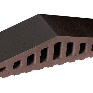 Профильный кирпич KING KLINKER Вулканический черный (18), 310/250*100*78 мм