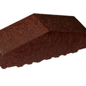 Профильный кирпич полнотелый KING KLINKER 02 Brown-glazed, 180/120*65*58 мм