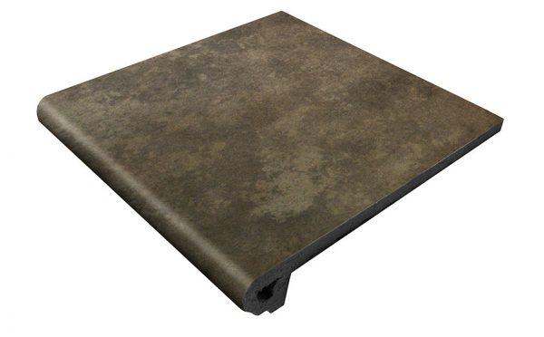 Клинкерная ступень Gres Aragon Antic Basalto, 330*325*18(53) мм