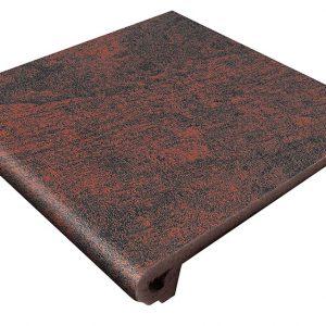 Клинкерная ступень Gres Aragon Jasper Rojo, 330*325*18(53) мм