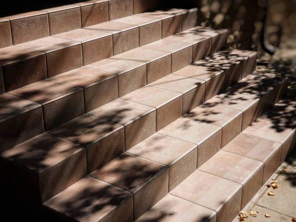 Фронтальная клинкерная ступень простая Paradyz Scandiano Ochra, 300*300*11 мм