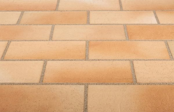 Тротуарная клинкерная плитка Stroeher 123 beige-bunt, 240х115х18 мм