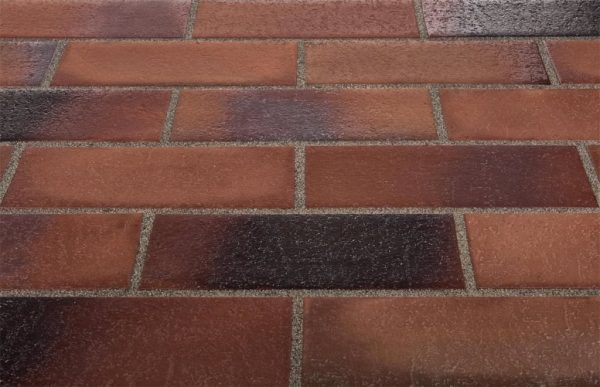 Тротуарная клинкерная плитка Stroeher 124 braun-blau, 240х115х18 мм