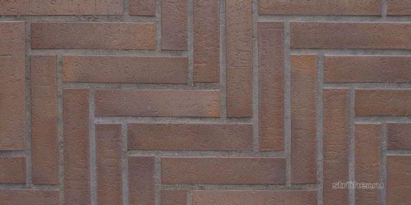 Тротуарная клинкерная плитка Stroeher 212 braun, 240х52х18 мм
