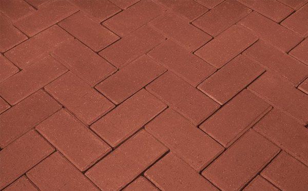 Тротуарная клинкерная брусчатка Penter rot без фаски, 240*118*62 мм