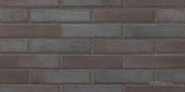 Тротуарная клинкерная плитка Stroeher 336 metallic schwarz, 240х52х18 мм
