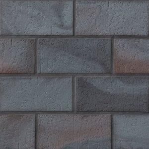 Тротуарная клинкерная плитка Stroeher 336 metallic schwarz, 240х115х18 мм