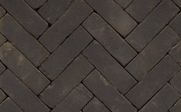 Клинкерная тротуарная брусчатка Penter Nero tumbled, 200*65*85 мм