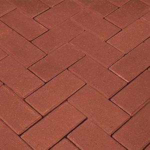 Тротуарная клинкерная брусчатка Penter rot с фаской, 200*100*80 мм