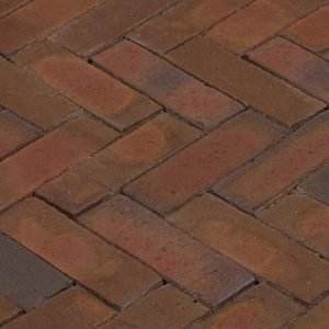Клинкерная тротуарная брусчатка Penter Rosa wasserstrich, 200*65*85 мм
