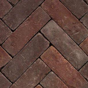 Клинкерная тротуарная брусчатка Penter Qualiton mix tumbled, 200*65*65 мм