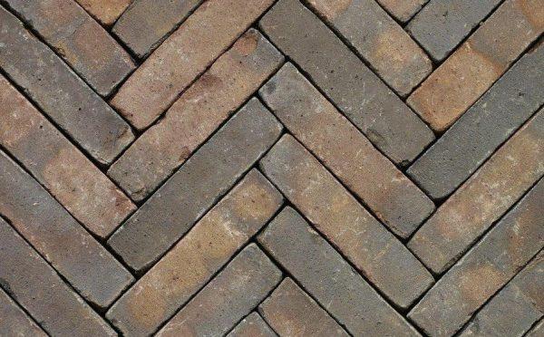 Клинкерная тротуарная брусчатка Penter Oliva wasserstrich tumbled, 200*50*85 мм