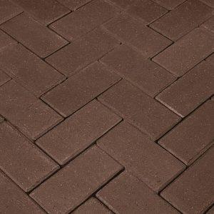 Тротуарная клинкерная брусчатка Penter Schwarzbraun, 200*100*52 мм